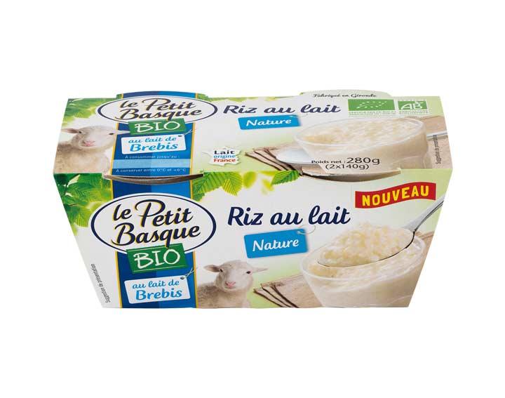 Riz au lait de brebis Bio nature 2x140g