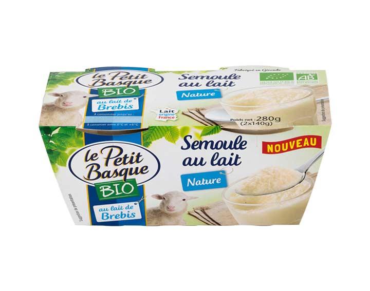 Semoule  au lait de brebis Bio nature 2x140g