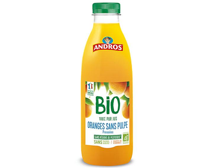 Pur jus d'Oranges BIO pressées sans pulpe