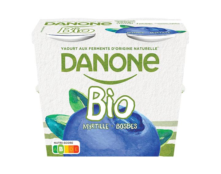 Volle bio yoghurt met bosbes 4x115g