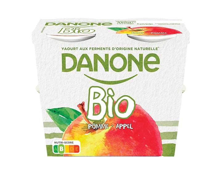 Volle bio yoghurt met appel 4x115g