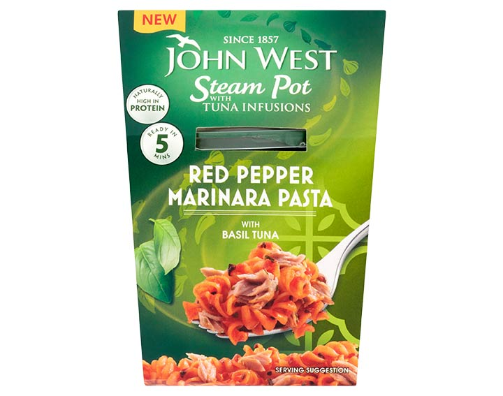 Basil Tuna with Red Pepper Marinara Pasta