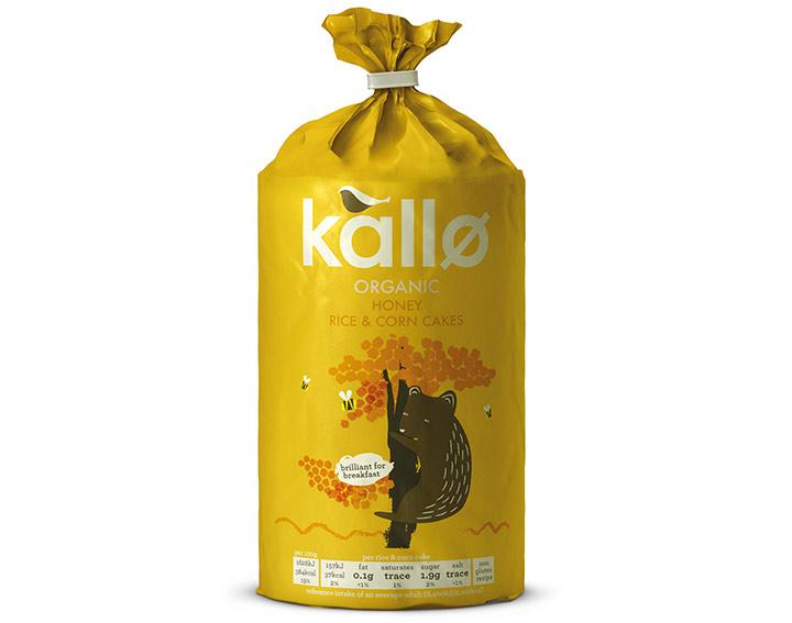 Kallo Organic Honey Rice & Corn Cakes 125g