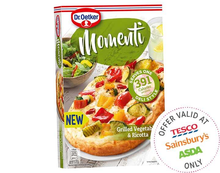 Momenti Grilled Veg & Ricotta Pizza 185g