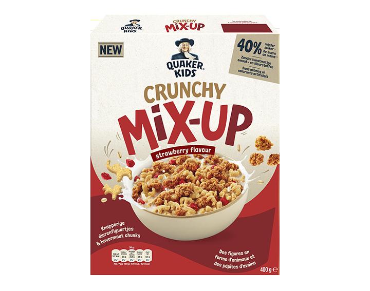 Quaker Kids Crunchy Mix-Up Aardbei 400g