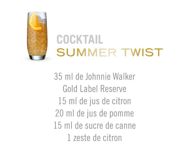 Découvrez le cocktail Summer Twist Johnnie Walker Gold Label Reserve