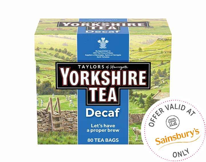 Yorskshire Tea Decaf 80 tea bags