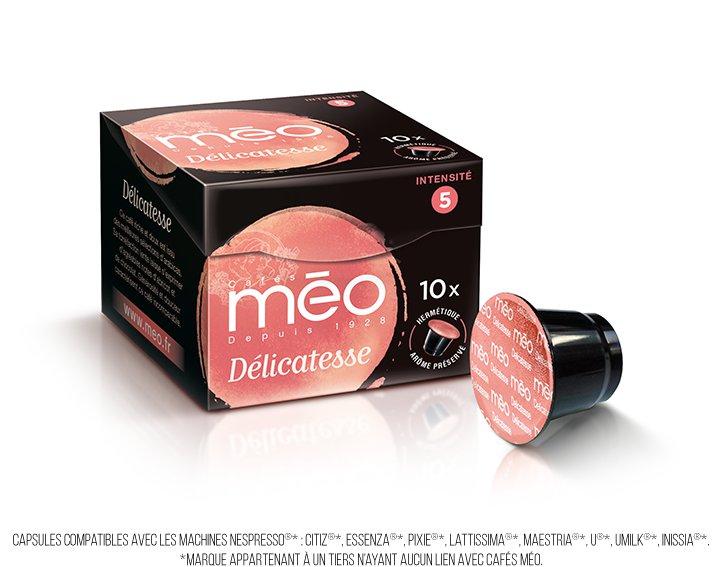 Capsules cafés Méo - Délicatesse (écrin 10 capsules)