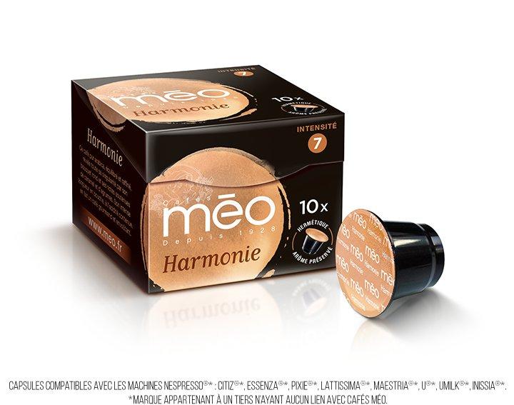 Capsules cafés Méo - Harmonie (écrin 10 capsules)