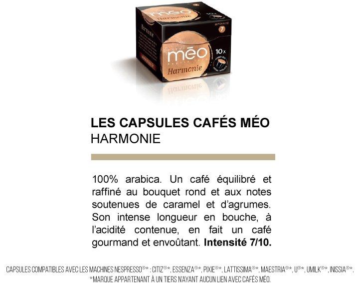 Capsules cafés Méo - Harmonie