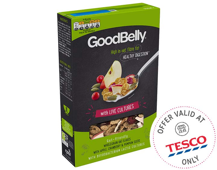 GoodBelly Oat Flakes with Apple & Cranberry