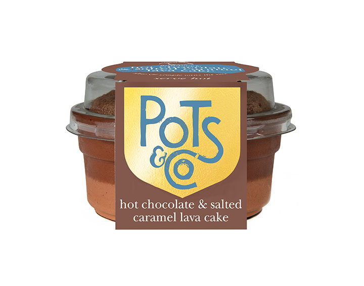 hot chocolate & salted caramel lava cake 100g