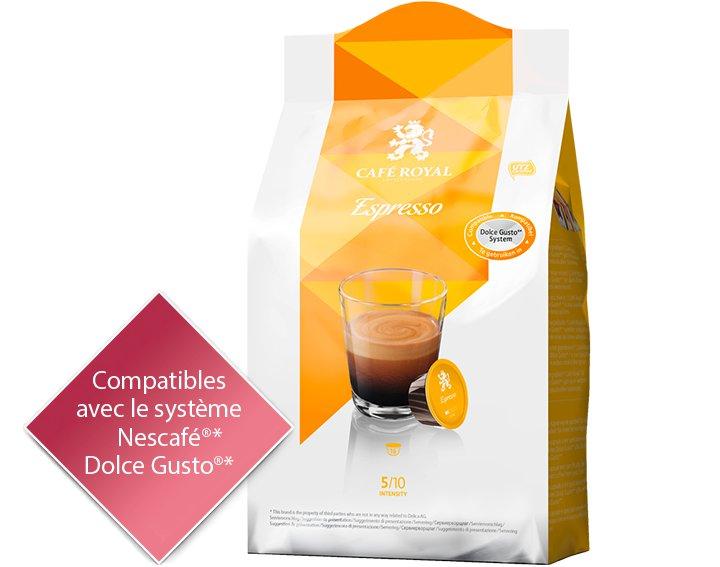 Capsules Café Royal Espresso *Cette marque est la propriété de tiers qui n'ont aucune relation avec Delica AG.