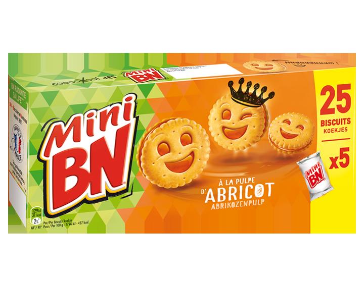 Mini BN Abrikoos 5x35g