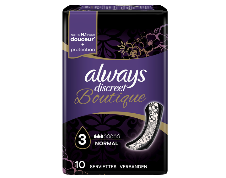 Serviettes Always Discreet Boutique Normal