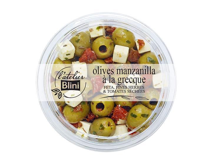 L'atelier Blini Olives à la grecque