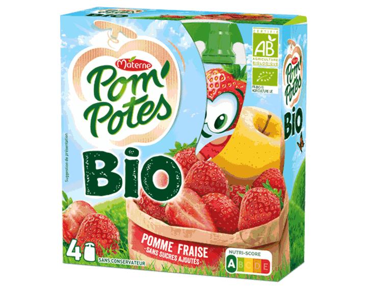 Pom'Potes® Bio Pomme Fraise 4x90g