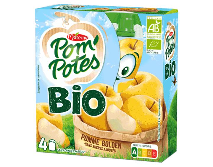 Pom'Potes® Bio Pomme Golden 4x90g
