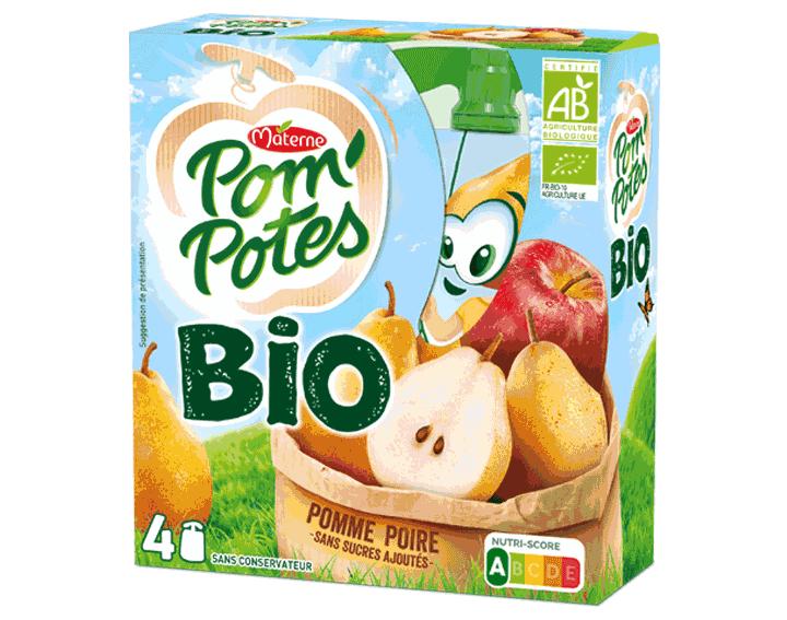 Pom'Potes® Bio Pomme Poire 4x90g