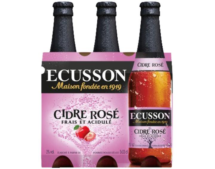 Pack de 3x33cl ECUSSON Cidre Rosé