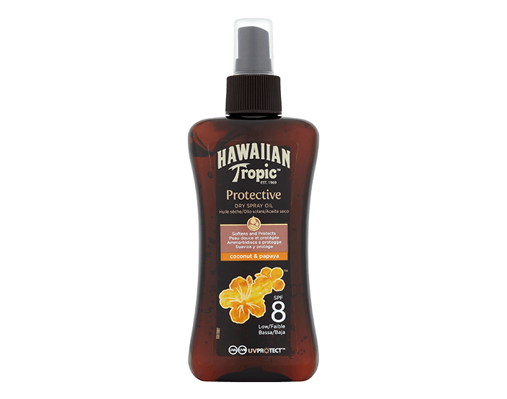 Protective Dry Oil Spray Coconut & Papaya SPF8