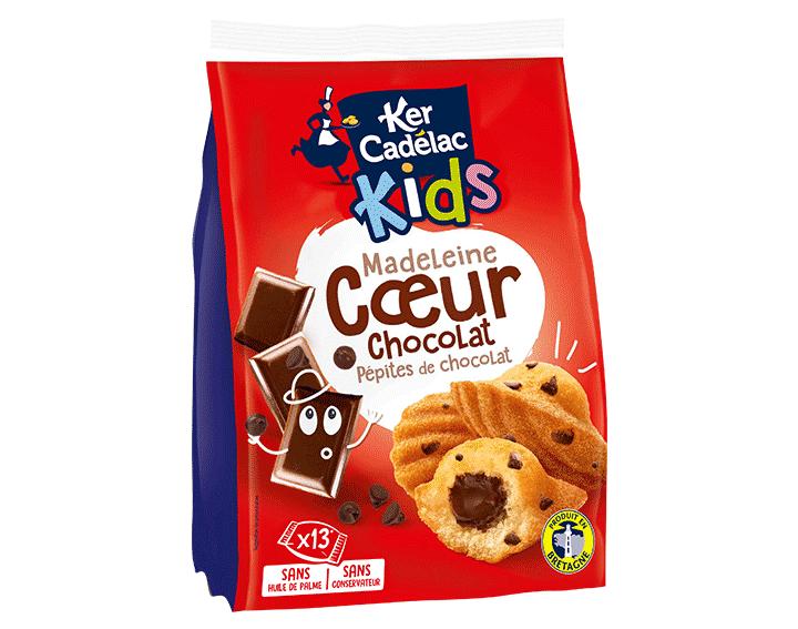 Madeleines coeur Chocolat & Pépites de Chocolat x13, 390g