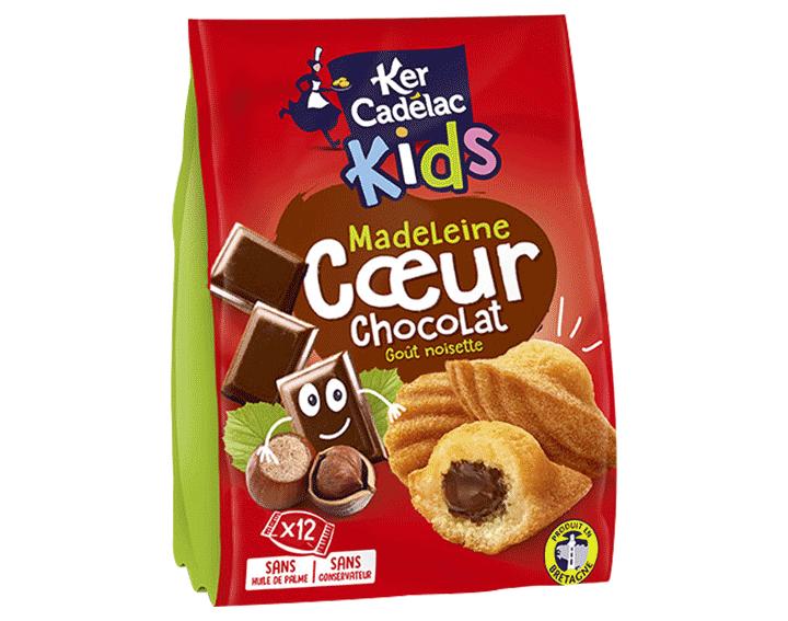 Madeleines coeur Chocolat goût Noisette x12, 420g