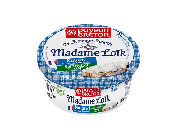 Madame Loïk Nature Taux sel réduit 150g