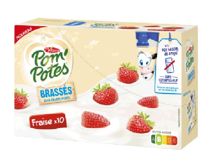 Pom'Potes® Brassés Fraise x10