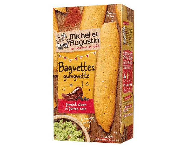 Baguettes guinguette piment doux et poivre noir
