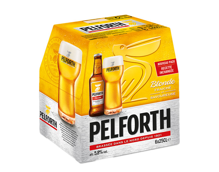 Pack de 6x25cl Pelforth Blonde