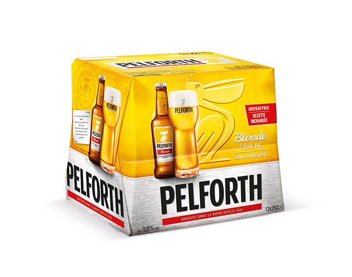 Pack de 12x25cl Pelforth Blonde