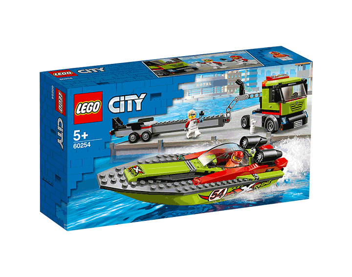 Le transport du bateau de course LEGO® City