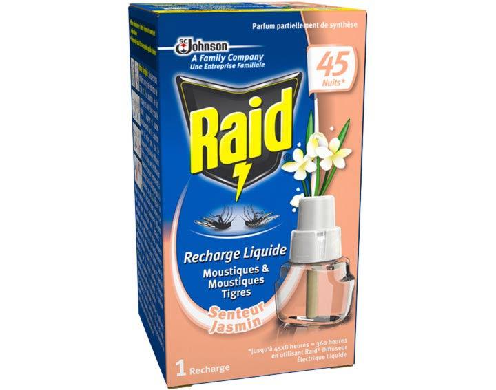 Raid® Recharge électrique liquide 45 nuits Jasmin