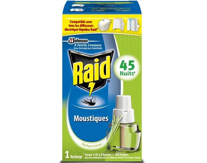 Raid® Recharge électrique liquide 45 nuits Citronnelle