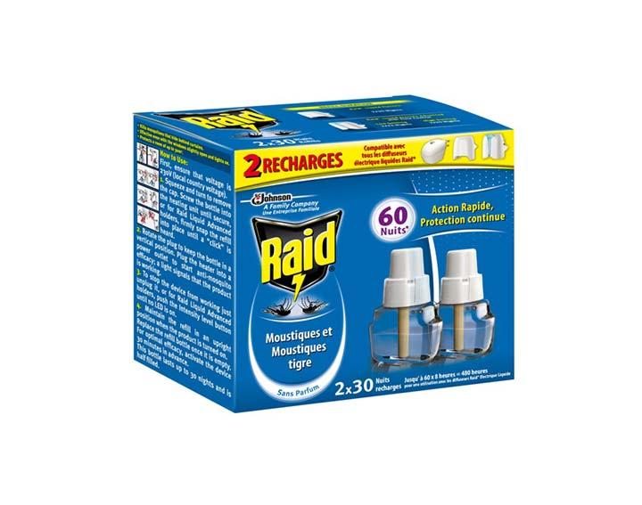 Raid® Recharge électrique liquide 2x30 nuits