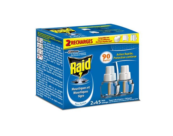Raid® Recharge électrique liquide 2x45 nuits
