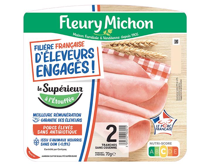 Jambon de porc Supérieur 2 tranches FFEE