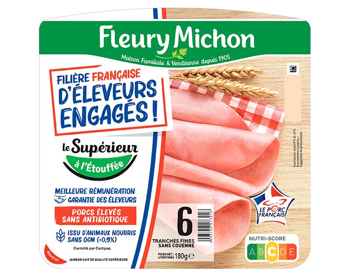 Jambon de porc Supérieur 6 tranches FFEE