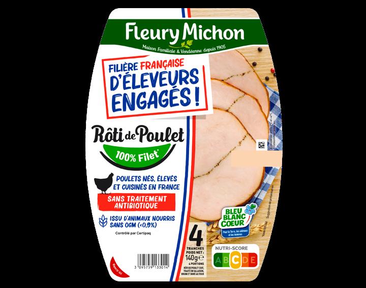 Rôti de poulet cuit 4 tranches FFEE