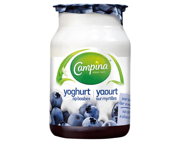 Yoghurt op Bosbes
