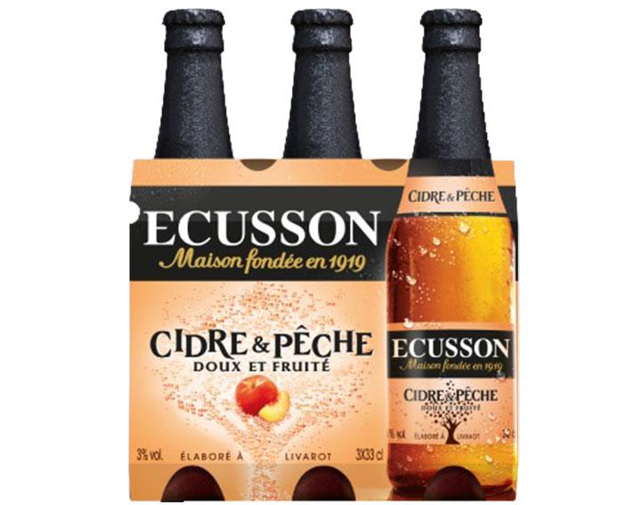 Pack de 3x33cl ECUSSON Cidre & Pêche