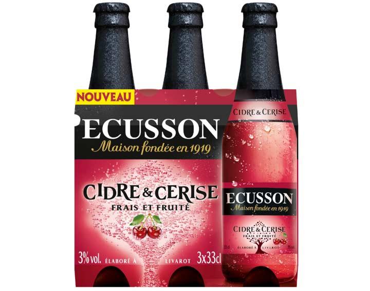 Pack de 3x33cl ECUSSON Cidre & Cerise