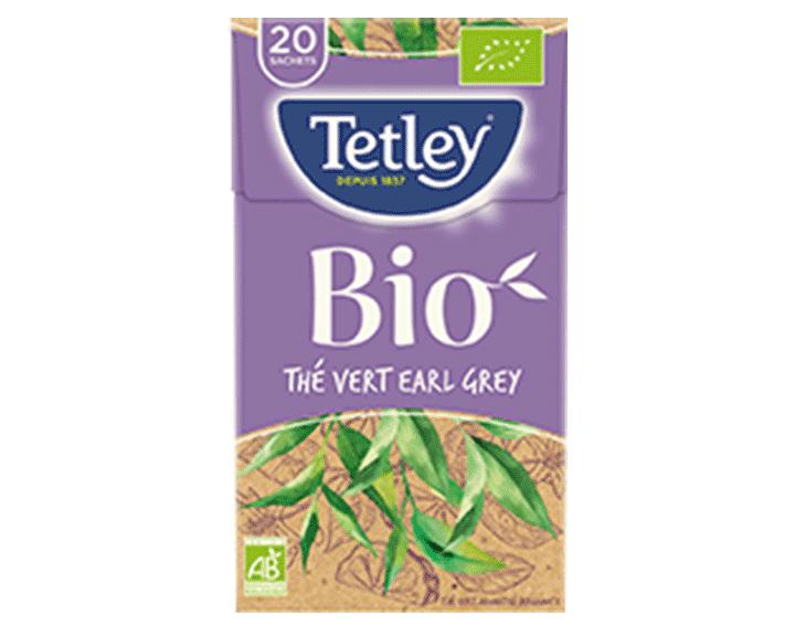TETLEY Thé Vert Earl Grey BIO