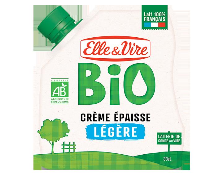 Elle & Vire Bio Crème Épaisse légère en poche