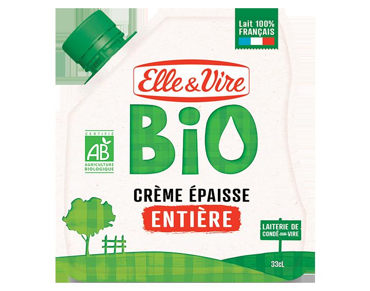 Elle & Vire Bio Crème Epaisse entière en poche