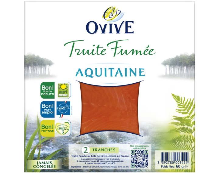 Truite Fumée d'Aquitaine 2 tranches