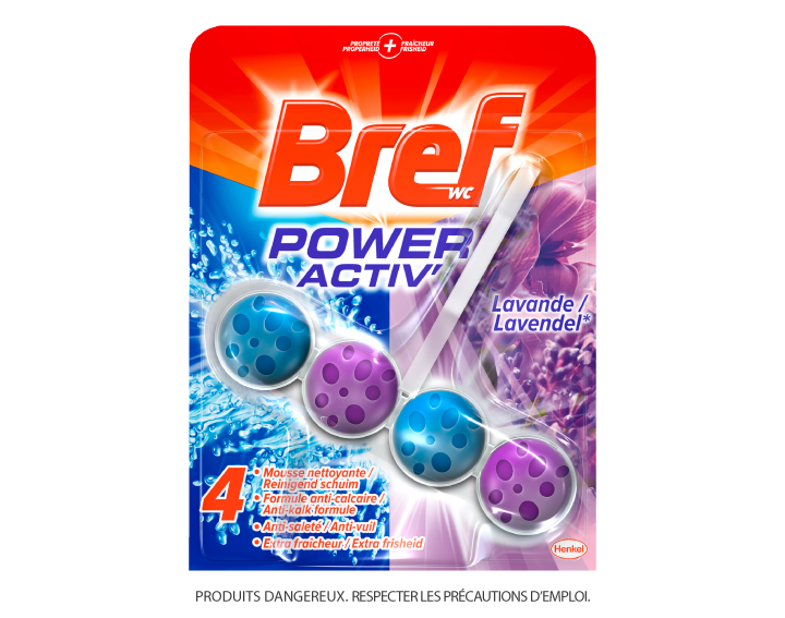 Bref WC Power Activ' Lavande 50g