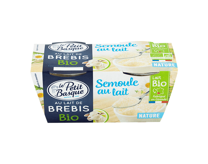 Semoule BIO Nature au lait de Brebis
