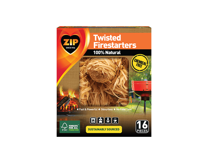 Zip 100% Natural Twisted Firestarters 16's